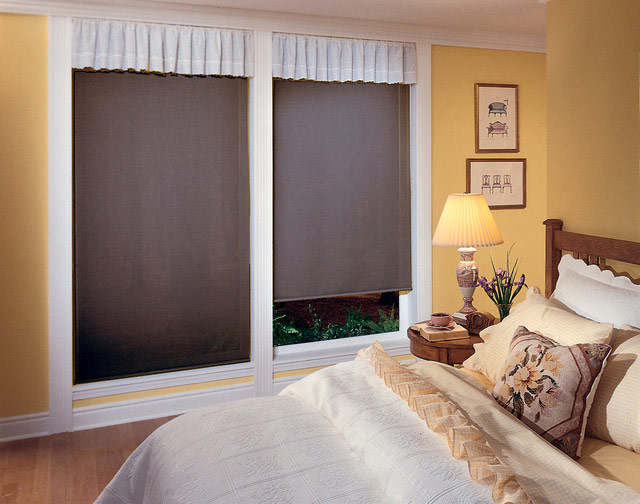... Sheer Sunscreen Roller Blinds. Its Sheer Material Provides You A  Glimpse Of The Outside View While Protecting You From The Heat And Glare Of  The Sun.